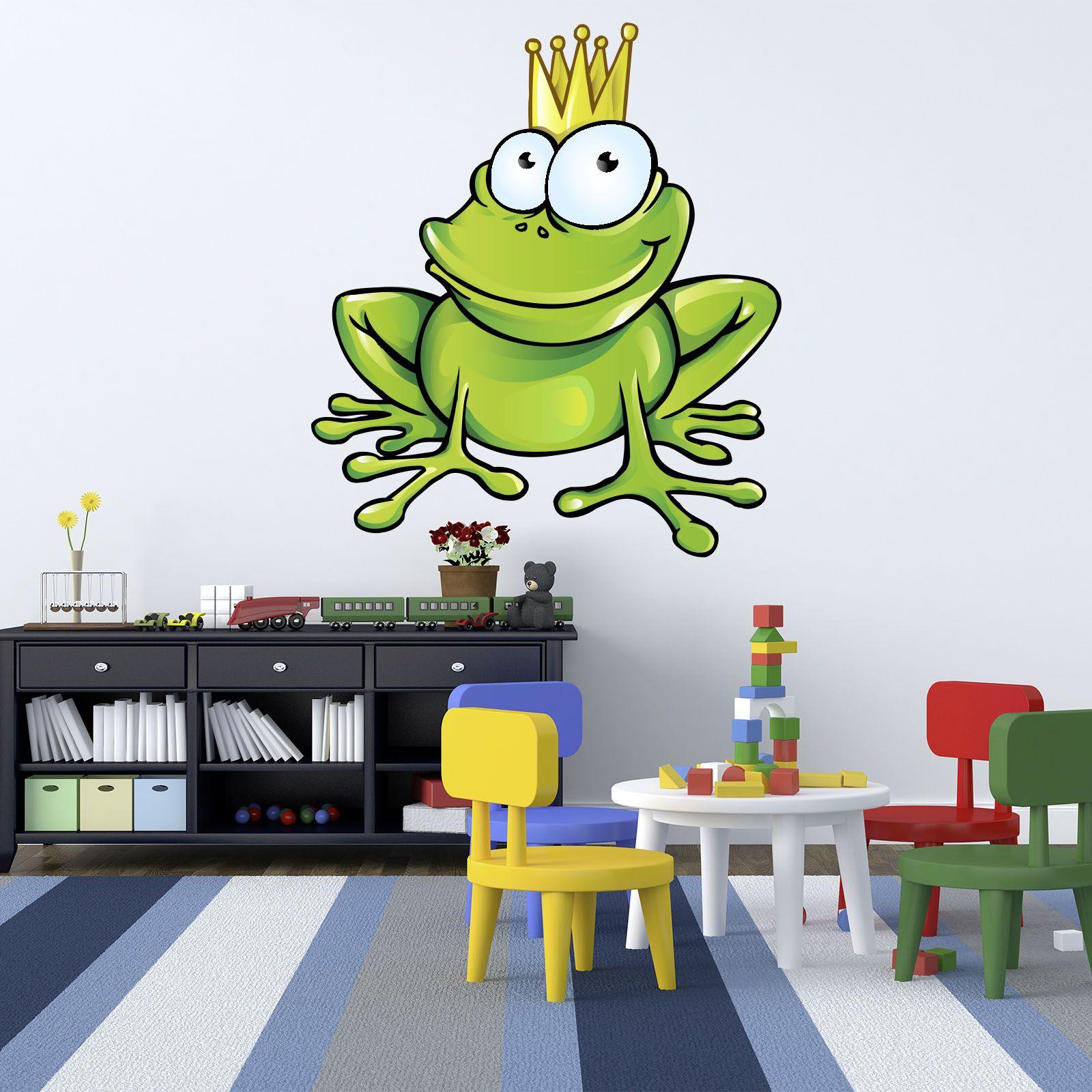 xxl wallprint wandtattoo frosch k nig froschk nig krone. Black Bedroom Furniture Sets. Home Design Ideas