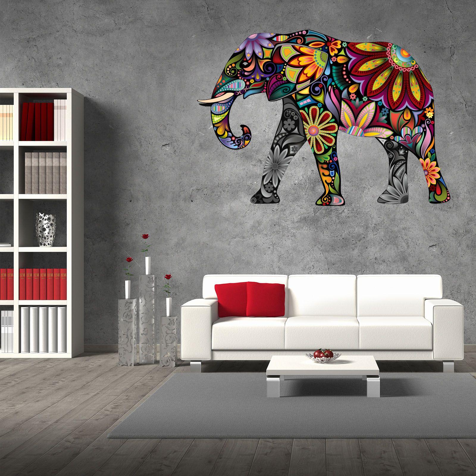 xxl wallprint wandtattoo elefant ornamente loft design. Black Bedroom Furniture Sets. Home Design Ideas