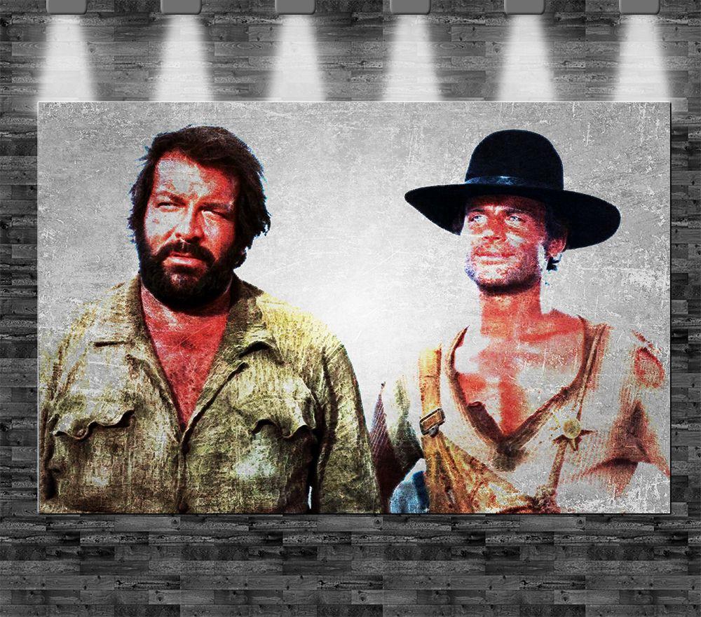 Xxl Bud Spencer Terence Hill Auf Leinwand 110x70cm Film Klassiker