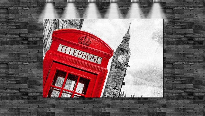 england telefonzelle big ben auf leinwand keilrahmen queen london ebay. Black Bedroom Furniture Sets. Home Design Ideas