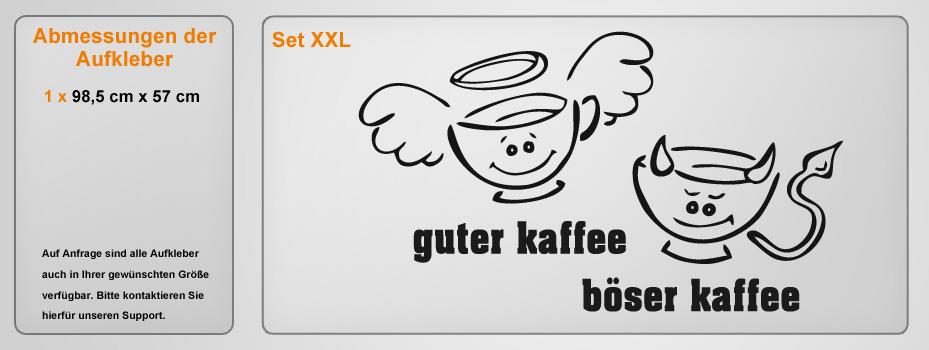 guter kaffee b ser kaffee gr e 60x36cm farbe schablone. Black Bedroom Furniture Sets. Home Design Ideas