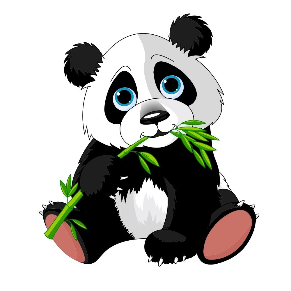 Wandtattoo Comic Panda 115x132cm Tier Zimmer Kinder Aufkleber Druck Ebay