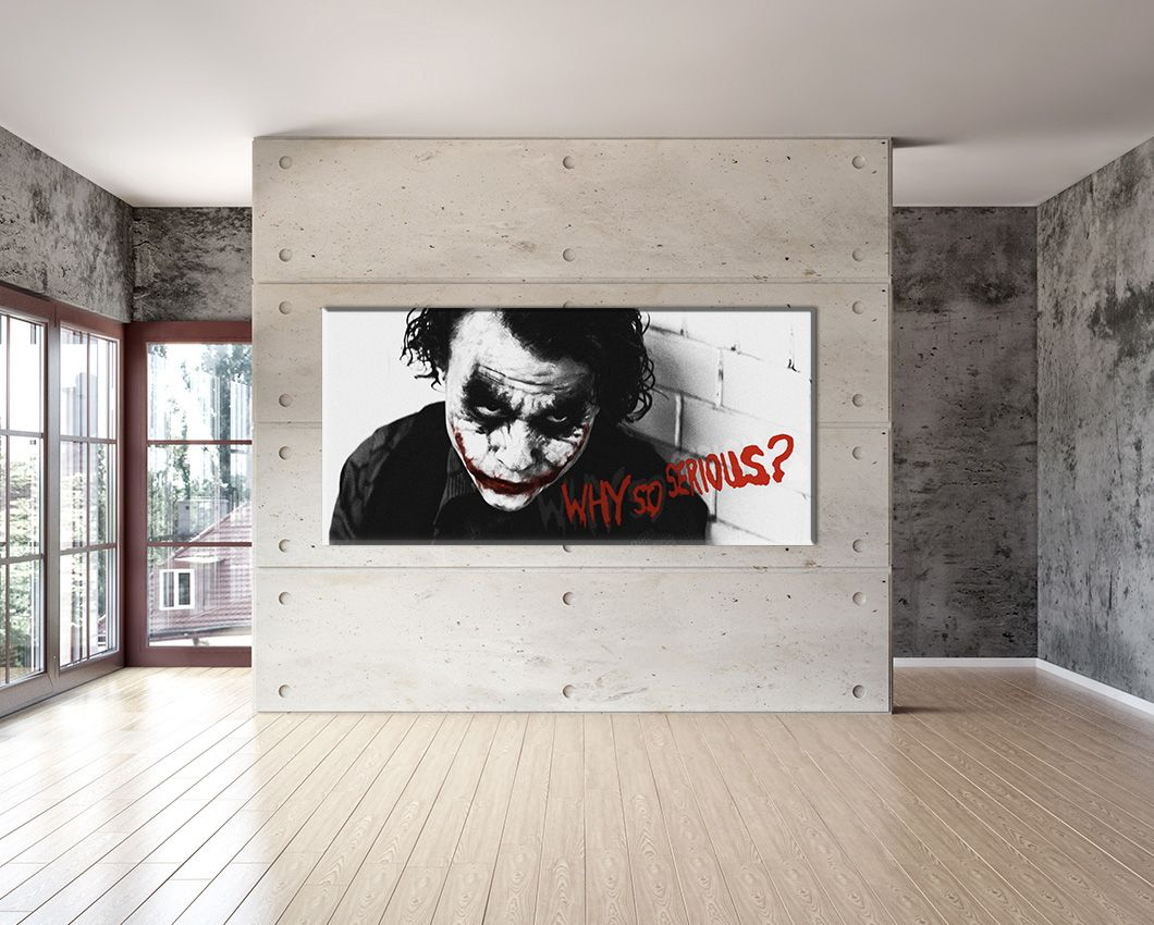 XXL Why so serious? rot auf Leinwand 160cm x 70cm Design Bild Loft ...